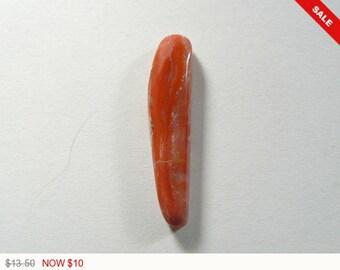 Myrickite Cinnabar Cabochon, 7.5x32x5 mm, cinnabar cab, designer cabochon, gemstone cabochons, flat back cabochons, natural stone (22272)