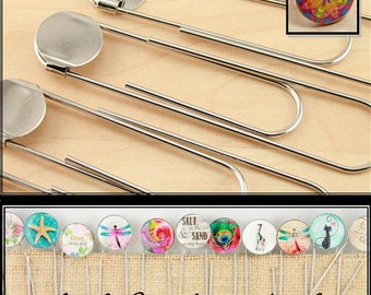 20 - DIY Jumbo Paper Clip BookMarks with Optional  E6000 Adhesive. 3 1/2 Inch in Length. 16mm Attached Glue Pad.