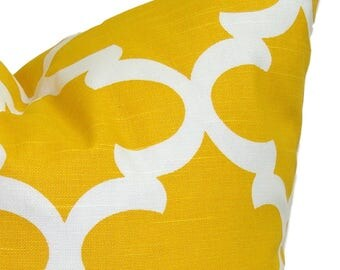 Yellow Pillow, Yellow Pillows, 12x16 or 12x18 Yellow Pillow Cover, Decorative Pillow, Yellow Throw Pillow, All Sizes, Yellow Lumbar, Yellow
