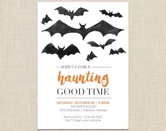 Printable Halloween Invitation, Halloween party invitation, Halloween Invitation