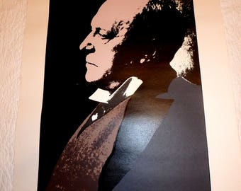 Serigraph Print Of Author Henry James By Artist George Davis Dated 1983