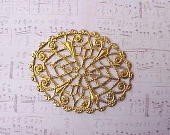 2 Pretty Little Filigree Decorative Findings