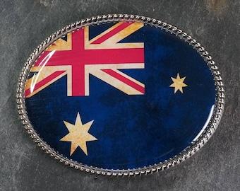 Handmade Belt Buckle Flag Australian Flag