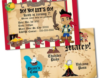Jake The Pirate Birthday Invitations