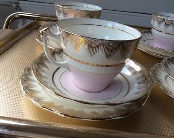 Bone china tea cup trio