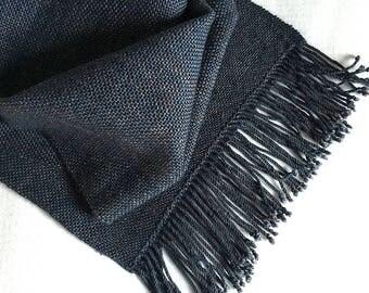 Plaiding Scarf - Handwoven - Merino, Cashmere, Silk - Muddy Waters