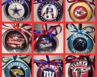 Sports teams themed ornaments 1 of your choice