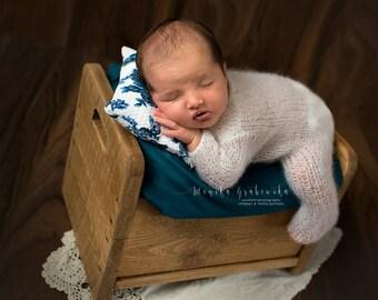 Newborn footed romper Newborn romper Newborn props Knitted romper Mohair romper Newborn outfit Baby props Knits romper newborn set