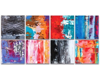 Abstract Wall Art 'Urban Windows Large' by Celeste Reiter - Urban Decor Contemporary Color Layers Artwork on Metal or Plexiglass