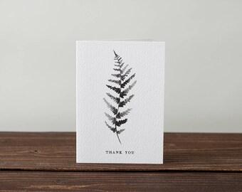 Fern thank you card