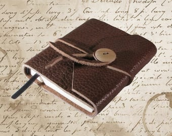 Hand Bound Brown Leather Travel Journal or Sketchbook