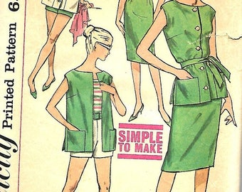 ON SALE Simplicity 3937 Misses Simple To Make Top, Skirt, Blouse And Shorts Pattern, Size 16, Bust 36