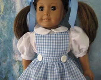 18 inch Doll Wizard of Oz Dorothy Costume Dress
