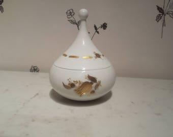 Vintage Rosenthal Studio Linie - bowl with lid - Björn Wiinblad - Germany - Hand painted