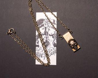 Necklace bronze geometric Skulls 2 Chrome Angel Hearts Baby MC Ink