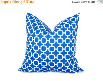 15% Off Sale Blue Pillow Outdoor pillow Cover  16x16 Throw Pillow Cover Decorator Pillow Cover Decorative Throw Pillow Cover Printed Fabric