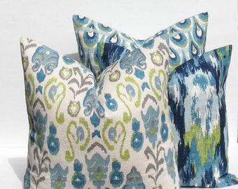 15% Off Sale Decorative pillows, throw Pillows Throw Pillow covers - pillows - pillow covers - blue pillow - Green Pillows - burlap pillow