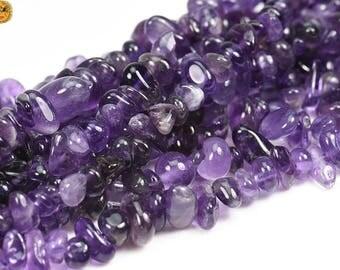 15 inch strand of Amethyst chip nugget bead,freedom chips,crystal quartz,crystal bead 6-10mm