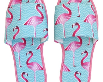 Pink Flamingo Hotel Slippers