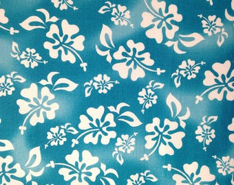 White Hibiscus - Hawaiian Flowers - Loralie Designs - 100% Cotton Fabric - FLORAL-21