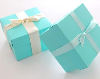TIFFANY BLUE GIFT Box With Satin Ribbon, Gift Box For Any Occassion,  Birthday,