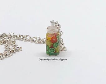 Mini Fruit Glass Vial Necklace