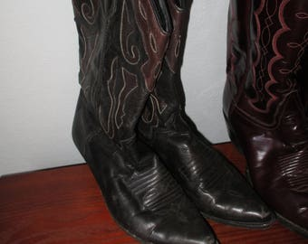 Vintage Cowboy Cowgirl Pointy Boots 1980s