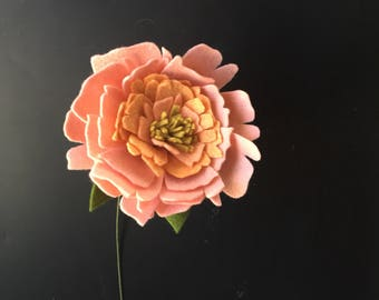 Large Felt Open Peony - Build your own Bouquet - Felt Flowers A La Carte