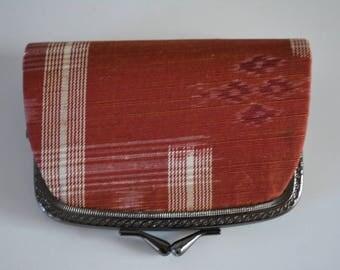 Small  coin purse, vintage Japanese, oshima trumugi silk