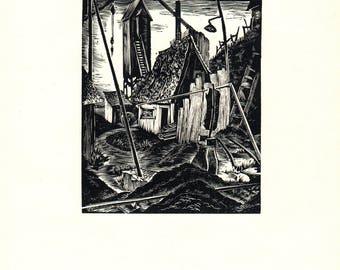 Bernice E. Jamieson-Deserted-1939 Woodblock