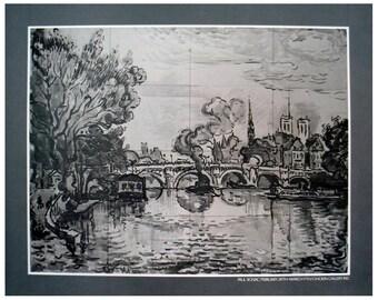Paul Signac-River Scene-1970 Poster