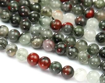 Bloodstone Jasper Beads, 10mm Round - 15 inch Strand -  eGR-39940-10