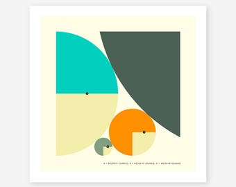 DESCARTES' THEOREM (Giclée Fine Art Print, Photo Print or Poster Print) Minimal Geometric Art