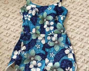 60s Cole Hawaiian Playsuit Swimsuit