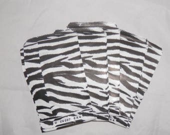 On Sale 100 Zebra Print Merchandise Bags, Paper Bags, Gift Bags, favor bags, goody bags 4x6