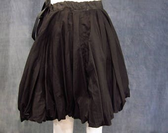 Black Bubble Skirt Circle Skirt Pirate Skirt Medieval Skirt Renaissance Skirt Over Skirt Wench Garb Peasant Costume Ren Faire Garb