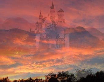 Castle In The Clouds Print