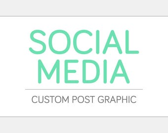 Custom SOCIAL MEDIA Post Graphic | Online Business Advertising Marketing Graphic Design | For Instagram, Facebook, Tumblr, & More