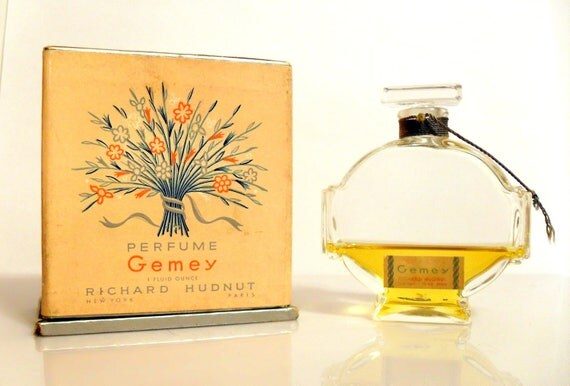 Vintage 1940s Gemey By Richard Hudnut 1 Oz Parfum Perfume