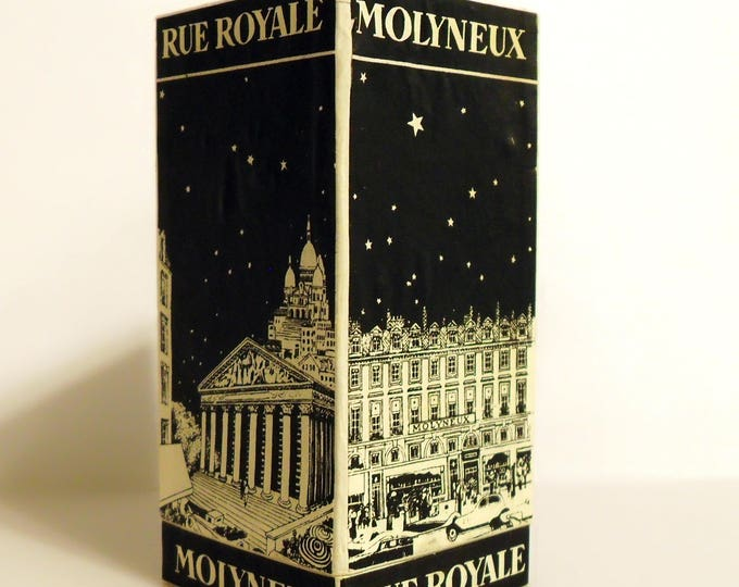 Antique Vintage Perfume 1930s Rue Royale by Molyneux Pure Parfum Extrait Art Deco Presentation Box Only