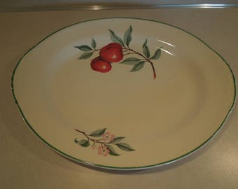 Vintage Homer Laughlin Nautilus Red Apple Platter Made in U.S.A.