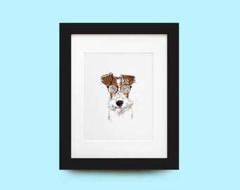 Fox Terrier Portrait Print