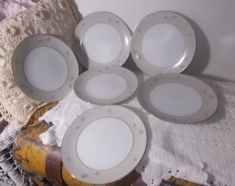 Zylstra Frosted Leaves China Salad Plates, Hand Crafted China, Vintage China, Vintage Dishes, Vintage Kitchen :)s