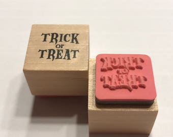 small Trick or Treat rubber stamp, 20 mm (BB1/4)