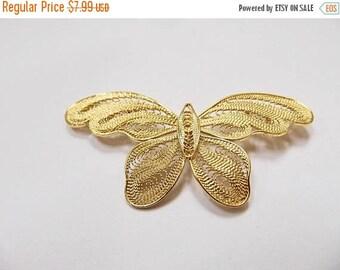 On Sale Vintage Filagree Butterfly Pin Item K # 1547