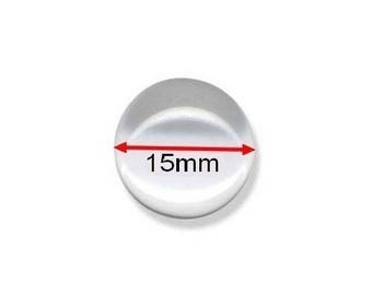1 glass cabochon 15mm round