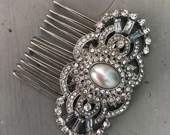 Art deco Hair Comb,  Bridal Hair Comb,  Wedding hair Accessories,  Bridesmaid accessory