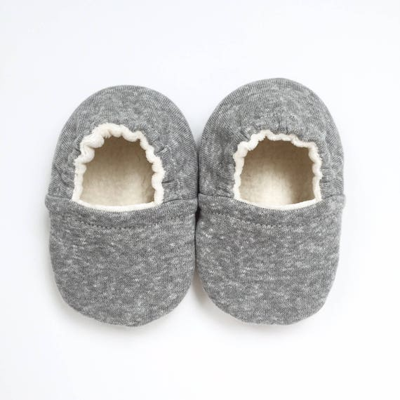 Grey Knit Soft Sole Vegan Baby Shoes