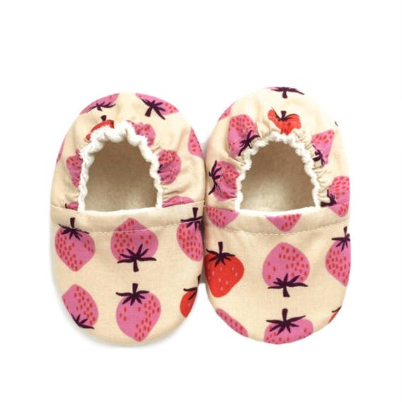 Strawberries Soft Sole Vegan Baby Shoes