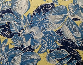 Tropical Floral Print Cotton Fabric 52 inches wide x 52 inches long